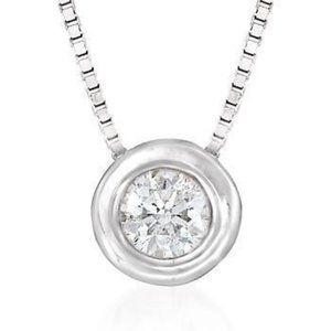 Sparkling Solitaire  Round Diamond Bezel Set Penda